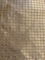 Clarence House Heavy Silk Small Plaid Drapery Upholstery Fabric  2 Yards
