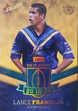 2016 AFL FUTURE FORCE - 20 in 20 (NAA14) - Lance FRANKLIN #23 JUMPER NUMBER!!