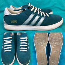 buy popular d140b 8b7ff Mens ADIDAS  Mark Gonzales  Teal Blue Suede Skateboard Sneakers Shoes ...