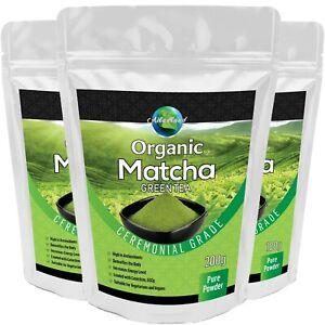 Ceremonial Grade Matcha Green Tea Powder Organic Certified Energy Booster Detox
