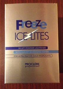 Proclere freeze icelites hair powder bleach with inbuilt toner 400G