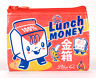 Blue Q Coin Purse Lunch Money 95% Recycled Material Zipper
