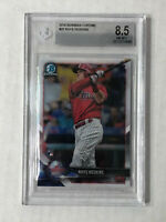 RHYS HOSKINS 2018 Bowman Chrome BASE RC #25! BGS NM-MT+ 8.5! PHILLIES! HUGE SALE