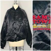 Vintage West Ark Mens Jacket Size XL Black Snap Button Embroidered Las Vegas USA