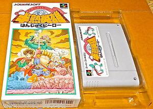HANJUKU HERO Hanjyuku Super NES Famicom Nintendo SNES SFC Japan Game BOXED