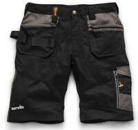 Scruffs Trade Work Shorts Black with Multiple Pockets Hardwearing Combat Cargo