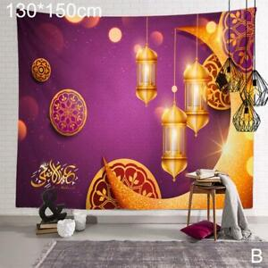 Ramadan Tapestry Eid Mubarak Wall Hanging Background Cloth Home Textile DecorA A