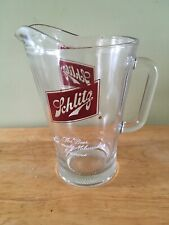 """Vintage Schlitz Beer Glass Pitcher """"The Beer That Made Milwaukee Famous"""""""