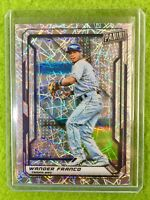 WANDER FRANCO REFRACTOR ROOKIE CARD JERSEY #4 RAYS RC /99 PRIZM 2019 NationalVIP