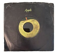 "The Beatles With Billy Preston ""Get Back"" 1969 Apple 2490 Vinyl 45  Ex"