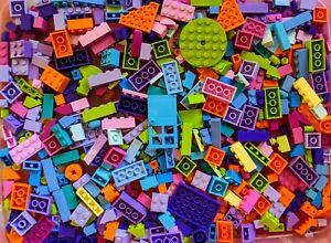 NEW 💥 100+ Bright Color LEGO BULK LOT! GIRLS, City, Friends! Pink Violet etc