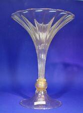 Murano klare Vase in Art Deco Form mit Nodus Goldfolie von Seguso - 130181 -