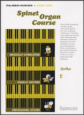 Livre d'orgue au cours des Palmer-Hughes épinette 1 apprendre comment jouer de méthode pour les débutants