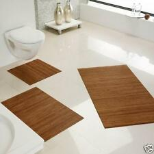 Alfombra de baño antideslizante bambú, baño, color: Oro CA 50x80