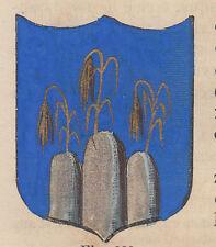1865 Stemma di Montorio al Vomano (araldica civica), Teramo, litografia