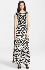 Tracy Reese Graphic Print Cross Back Maxi Dress (size M)