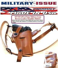 Military Issue BROWN Leather Shoulder Holster M7 M9 1911 45Cal 9mm Adirondack $$