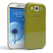 Schutz Hülle für Samsung Galaxy S3 / Neo Brushed Cover Handy Case Grün