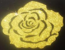 Rose couleur OR Patch termocollant à customiser hotfix Glitter 7 cm GOLD