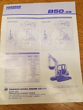 Yanmar B50-2B Specification Sheet