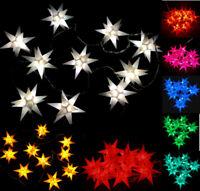 LED 10 kleine Sterne Lichterkette Sternenkette außen Außenstern Adventsstern Neu