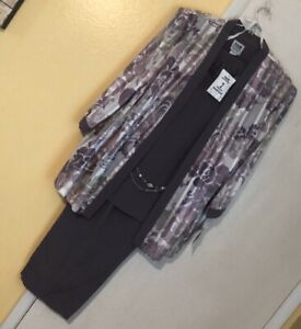 R & M Richards 2 Pc Pants Set Plus Size 20 NWT