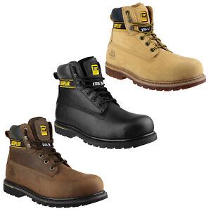 CAT Caterpillar Holton Safety Steel Toe Cap Mens Work Boot UK6-15