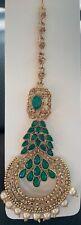 Indian Traditional Ethnic Gold Tone Bridal Wedding Maang Tikka Forehead Jewelry