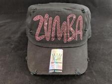 3332c04e106 NWT Zumba Rhinestone Bling Baseball Cadet Castro Cap Hat Black   Pink