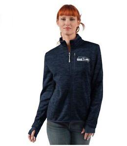 G-III 4her Seattle Seahawks Women's Slap Shot Full Zip Jacket - Navy