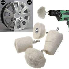 White Cotton Pad Polishing Buffing Wheel Rims Car Motorcycle Kit For Drill 4 Pcs