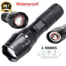 T6 LED Tactical Military Flashlight Torch 50000LM With 5-Mode Zoom Torches KF