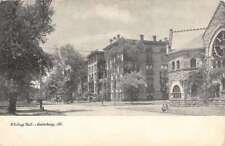 Galesburg Illinois Whiting Hall Street View Antique Postcard K76806