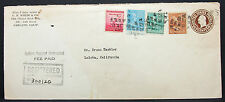US Postal Stationery Registered ADV Cover White Oakland GS USA R-Brief (H-7881+
