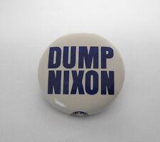 Vintage DUMP NIXON AFL-CIO Anti Richard Nixon War Rally Pin Button '72 Era