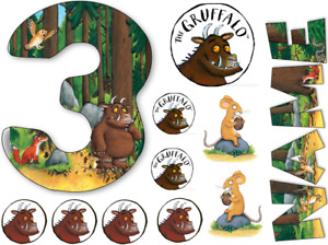 GRUFFALO INSPIRED NAME AND NUMBER PERSONALISED CAKE EDIBLE ICING TOPPER