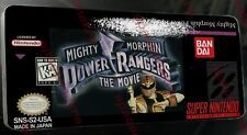 Mighty Morphin Power Rangers Movie SNES Replacement Label:HQ Gloss Vinyl Sticker