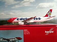Herpa Wings 1:200 Edelweiss Air Airbus A320 559584 mit standfuss