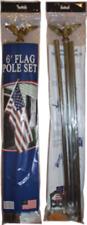 6ft Steel Galvanized Flag Pole Kit spinning pole