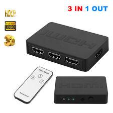 3 In 1 out HDMI Switch AV Splitter Hub Box 3x1 HDMI Switcher Support HD 1080P 3D