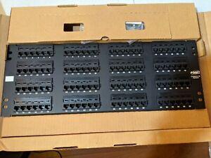 "96 Port Cat5E RJ45 110 Patch Panel 4U 19"" Rack Mount AMP"