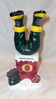 "7"" Christmas tabletop University of Oregon Football Santa in chimney bobble legs"