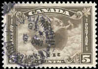 1930 Used Canada 5c VF Scott #C2 Air Mail Stamp