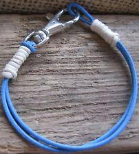 Herren Armband blau Leder Damen Surfer Style Herrenarmband Lederarmband Bracelet