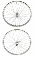 NEW! ORIGINAL STEEL 26 X 2.125 STEEL FRONT AND COASTER CHROME WHEEL IN 36 SPOKE