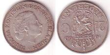 2 1/2 Gulden Silber Münze Niederlande 1960 (115234)