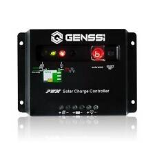 GENSSI 30A PWM Solar Panel Charge Controller Battery Regulator 12V/24V with LED