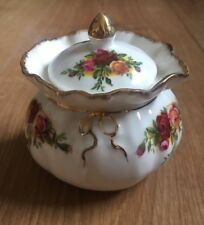 ROYAL ALBERT OLD COUNTRY ROSES  JAM JAR