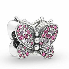 3aab85a61 Authentic Pandora Charms 925 ALE Sterling Silver Butterfly Bracelet Bead  Charm