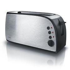 Arendo 4 Scheiben Langschlitz Toaster | stufenlos einstellbarer Bräunungsgrad